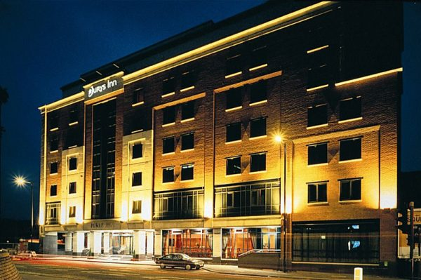Jurys Inn Manchester by night - wish you were here