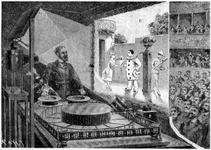 Image of Charles-Emile Raynaud with optical Theater representation