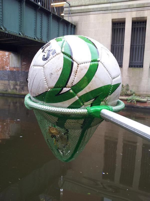 Sondico Football found in the Rochdale Canal.