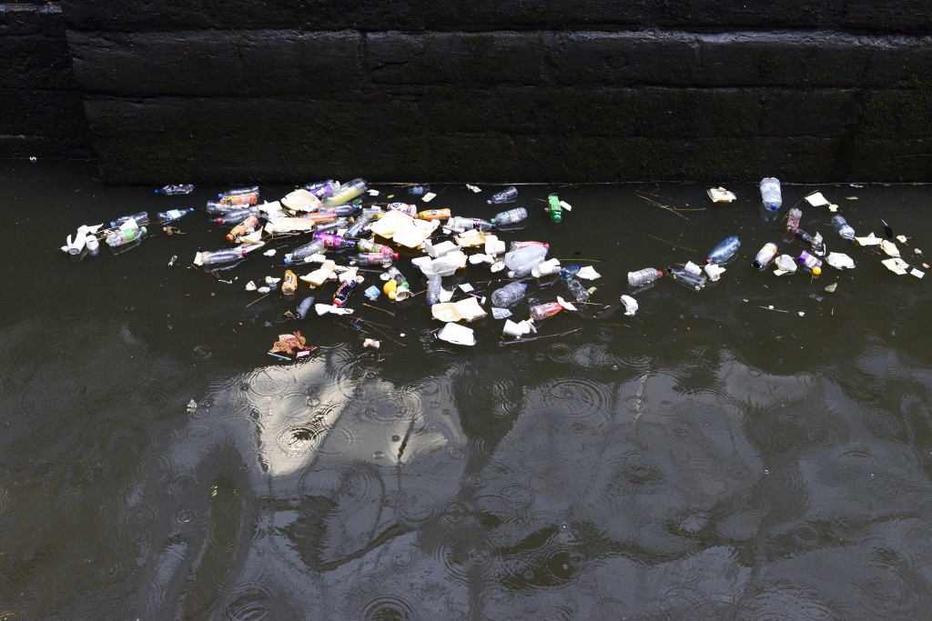 rubbish canal