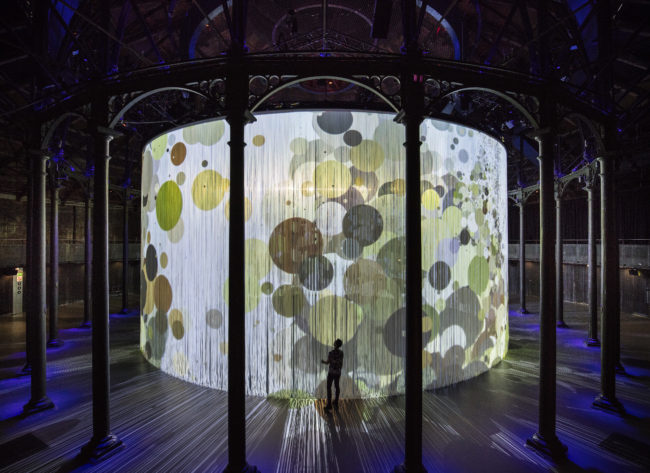 Ron Arad's Curtain Call 2016 at the Roundhouse, running from 6th-29th August, 2016  Photograph by David Levene London 8/8/16